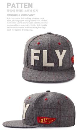 灰色 字母布贴格纹棒球帽