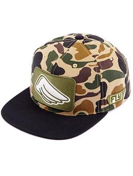卡其+棕色 时尚平檐棒球帽