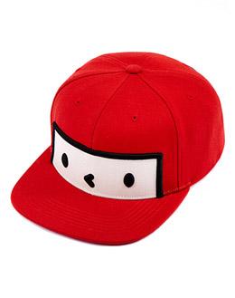 红色 方脸卡通棒球帽